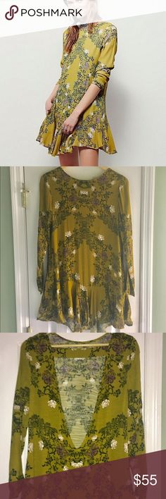 Free People Smooth Talker Tunic NWOT size Small • lightweight open back free spirited tunic (or dress) by Free People • No flaws Free People Tops Tunics