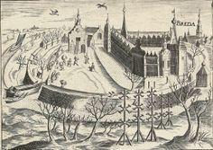 Breda Los holandeses se introducen en Breda con su barca de turba. Grabado de Bartholomeus Willemsz. Dolendo en el Rijksmuseum Amsterdam.