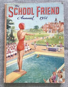 Excited to share this item from my #etsy shop: Vintage School Friend Annual 1951. Story Titles, Vintage School, Riddles, Uk Shop, Vintage Children, Mystery, Nostalgia, Childhood, Comic Books