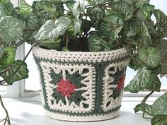 Poinsettia Granny flower pot cover, or a hundred different uses! Cushions/Blankets/Mobile sock. Oh joy, just oh so lovely. Thanks so xox