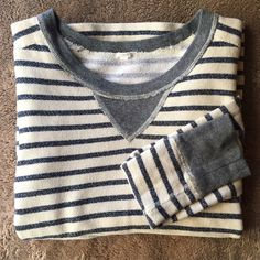 J. Crew Cozy Thermal Sweatshirt This warm and cozy pullover sweater from J Crew is perfect with a chunky knit scarf and riding boots! 100% cotton. Gently used, excellent condition (no pilling). Marked XS but can fit a small (I wear a small, see last pic). J. Crew Sweaters