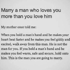 Mothers Advice about love to daughter
