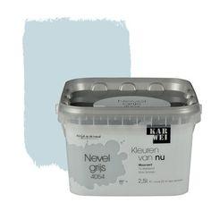 KARWEI Kleuren van Nu muurverf mat nevelgrijs 2, alles voor je klus om je huis & tuin te verfraaien vind je bij KARWEI