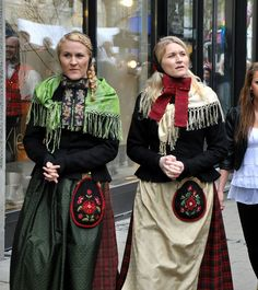Røros-bunad. Rørosbunad. Bunad fra Røros. Traditional dress. from Røros, a mountain town in the district of Sør-Trøndelag    Trondheim Norway / Norge