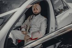 Best Of Punjabi Groom Outfits That You Must Bookmark For Your Wedding Groom Wear, Groom Outfit, Groom Attire, Sikh Wedding, Punjabi Wedding, Wedding Attire, Groom Trends, Blue Sherwani, Heavy Red