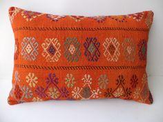 "Lumbar Kilim Pillow,24""x16"" inch 60x40 Cm"