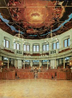 A9547pac UK Oxford Sheldonian Theatre Interior postcard