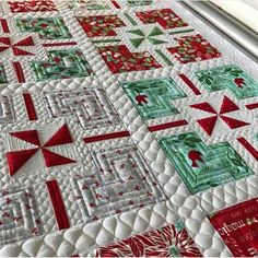 Her Quilting is Our Bliss - Christmas holiday present quilt