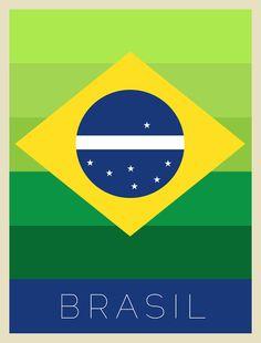 Brasil, Brazil, Urban Arts, Posters, Flat, Design, Copa do Mundo 2014, World Cup Brazil 2014.  https://urbanarts.com.br/produtos/detalhes/brasil-sede-da-copa-do-mundo-2014/#.U5d4v5RdXCY