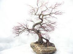 Copper wire tree - Bonsai style