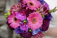 Gerber daisies wedding bouquet