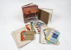 """A collection of Nashville books and ephemera. This collection feature a hardcover copy of the book """"Nashville: An American Self Portrait"""" by Lamar Alexander, a hardcover copy of """"Radnor Lake: Nashv. Radnor Lake, Ephemera, Nashville, Tennessee, Books, Libros, Book, Book Illustrations"""