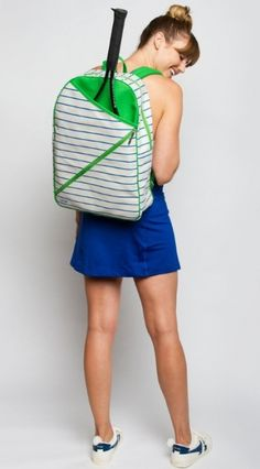 Check out our Quinn Ame & Lulu Ladies Cross Court Tennis Backpack! Find the best tennis gear and accessories at Lori's Golf Shoppe. Click through now to see this!