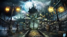 1920x1080 Halloween, Dracula, Castle, Moon, Dracula Castle In Moonlight Wallpapers and Pictures, Photos, Posters 78329  www.artsfon.com
