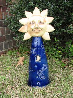 Sun and Moon Garden Sculpture...WANT!