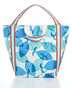 Martha Stewart Collection Accessories, Catch of the Day Beach Tote - - Macy's