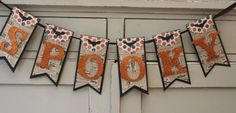 Spooky Banner Halloween Decor Vintage by LittlePumpkinPapers Halloween Paper Crafts, Halloween Banner, Halloween Boo, Holidays Halloween, Fall Crafts, Happy Halloween, Cricut Banner, Diy Banner, House Party Decorations