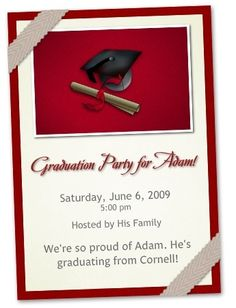 Free Printable Graduation Party Invitations Graduation - Sample graduation party invitation