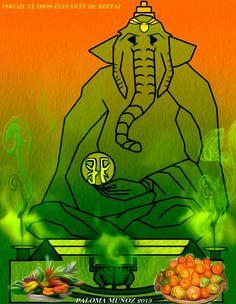 Yogah, el dios-elefante de Khitai. Yogah elephant-god of Khitai