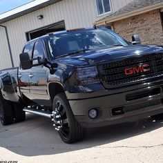 Lifted Duramax Dually With Stacks Dually duramax