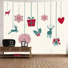 Christmas Gift Deer Print Tapestry Wall Hanging Art Decoration , #sponsored, #Deer, #Print, #Christmas, #Gift, #Tapestry #affiliate Christmas Tree Candles, Christmas Wall Art, Christmas Gifts, Hanging Art, Tapestry Wall Hanging, Christmas Material, Deer Print, Flower Branch, Tree Patterns