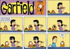 Garfield; she's good