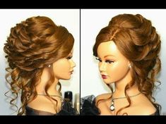 Wedding prom updo. Hairstyle for long medium hair - YouTube
