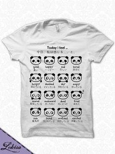 Japanese Panda Emoticon TShirt by LokisaFashion on Etsy, $19.99