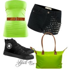 This is an awesome outfit! IF you wore a white tank top underneath