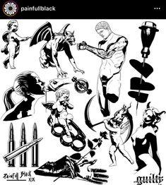 Flash Tattoo Sketches, Tattoo Drawings, Art Sketches, Unique Tattoos, Cool Tattoos, Flash Tats, Arte Hip Hop, Tattoo Flash Sheet, Creepy Tattoos