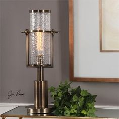 Uttermost Marrave Stacked Iron Lamp