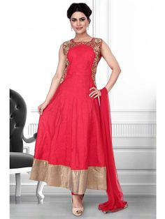 High sensed style and luxury is specially created for your personality.  Item code: SLWR6501R http://www.bharatplaza.com/new-arrivals/salwar-kameez.html