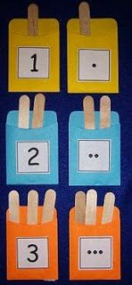 Early Learning Activities For Pre-K and Kindergarten craft stick pocket counting Numbers Preschool, Preschool Learning, Kindergarten Math, Teaching Math, Learning Numbers, Preschool Number Activities, Counting Activities, Early Learning Activities, Fun Learning