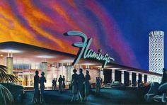 Vintage Las Vegas ~ The Flamingo Hotel & Casino in the 1950s.