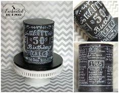 50th birthday chalkboard cake