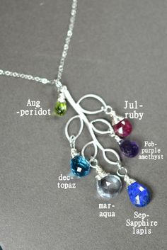 Birthstone NecklaceCustom Birthstone by TheFabulousJewelry on Etsy