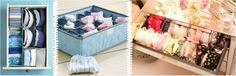 lingeries aproveitando os espaços no guarda-roupa,sutiã nas gavetas e calcinhas no nicho organizador