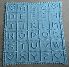 crocheted ABC blanket