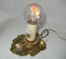 1940'S AEROLUX NEON ROSES LIGHT BULB LAMP WORKS FINE