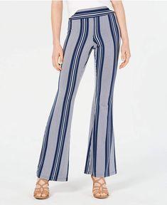 4b581043 Bcx Juniors' Striped Flare-Leg Pants - Black/White Stripe S