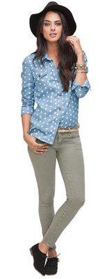 Bullhead Black Western Shirt & Ankle Skinniest Jeans #BullheadBlack #PacSun