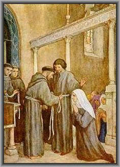 HOW ST FRANCIS, HAVING BEEN TOLD BY ST CLARE AND THE HOLY BROTHER SILVESTER THAT HE SHOULD PREACH AND CONVERT MANY TO THE FAITH, FOUNDED THE THIRD ORDER