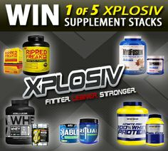 Win 1 of 5 XPLOSIV Supplement Stacks Valued at $179 EACH