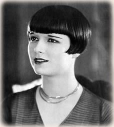 Become popular bobo cut hair and slim eyebrows. Model - Louise Brooks
