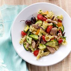 Rustic Pasta Toss with Tuna and Tomatoes