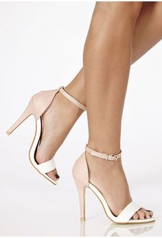 Kusia Contrast High Heeled Sandals - Heels - Shoes - Missguided