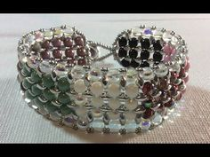 Egyptian Cuff Bracelet tutorial from Ruby Lockwood using Rounduos from Potomac Beads