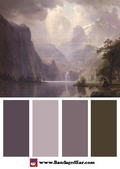 Albert Bierstadt Color Palette: In the Mountains, 1867 - BandagedEar.com