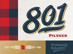 Uinta Brewing 801 Pilsner by Emrich Co.