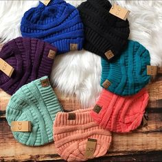 POPULAR! << Solid Color CC Boutique Beanies >> Super trendy and super colorful! Keep warm and look stylish in these solid color winter beanies! Boutique Accessories Hats
